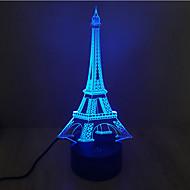 Eiffel-torony érintés fényerő 3d led éjszakai fény 7colorful dekoráció hangulat lámpa újdonság világítás karácsonyi fény