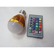3W E26/E27 Lâmpada de LED Smart A60(A19) 1 LED de Alta Potência 100-230 lm RGB Sensor AC 85-265 V 1 pç