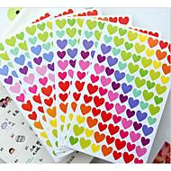 Zuid-Korea grappig liefde stickers gekleurde stippen / liefde / ster decoratieve sticker album