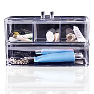 akryl kosmetické organizátor make-up úložný box plastové pouzdro akryl organizador, uspořádání