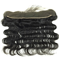 "1 YR Warranty Remy Brazilian Virgin Hair Lace Frontal 13""*2"" Body Wave Lace Frontal Hair Pieces 8""-20"""