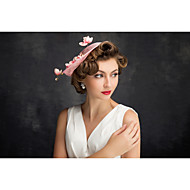 Women's Lace Feather Tulle Flax Net Headpiece-Special Occasion Fascinators 1 Piece