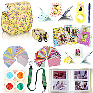 Trumpet yellow flower 9 in 1 Camera Accessory Bundles Set for Fujifilm Instax Mini 8(camera not include)