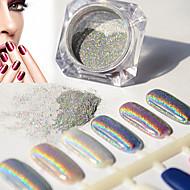 2g/Box Nail Glitter Powder Shinning Mirror Eye Shadow Makeup Powder Dust Nail Art DIY Chrome Pigment Glitter