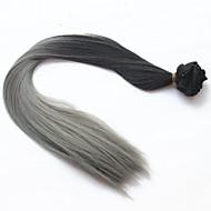 2016 módy klip v prodlužování vlasů ombre rovné dlouhé vlasy dip barvivo umělých vlasů dva tón klip na prodlužování vlasů