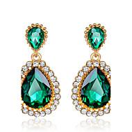 Druppel oorbellen Smaragd imitatie Emerald Zirkonia Birthstones Geboortestenen Zirkonia Kubieke Zirkonia Groen Sieraden VoorBruiloft