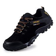 Herrer Sneakers Komfort Ruskind Forår Efterår Vinter Atletisk Afslappet Vandring Komfort Snøring Flad hæl Sort Grå Gul Blå Flad