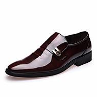 גברים-נעלי אוקספורד-עור-נוחות-שחור חום-משרד ועבודה יומיומי מסיבה וערב-עקב נמוך