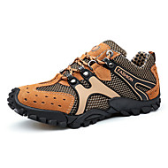 Men's Athletic Shoes Spring / Fall Comfort / Flats Suede / Tulle Outdoor /Brown / Yellow / Green Hiking