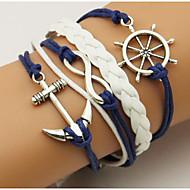 Homme Femme Bracelets Loom Bracelet Couche double Bohême Ajustable Alliage Forme Géométrique Ancre Bijoux Pour Quotidien Décontracté 1pc