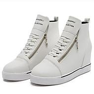 Homme-Extérieure / Décontracté-Noir / Rouge / Blanc-Talon Compensé-Compensées-Sneakers-Similicuir