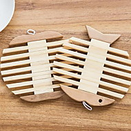 Apple Fish Type bamboo Wooden Insulating Eat Mat