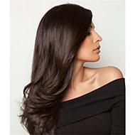 evawigs 10-26 polegadas perucas longa reta de 100% frente cabelo humano laço perucas cor natural densidade de preto 130%