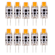 10PCS G4 0705LED COB 300-350LM Warm White/Cool White/Natural White Decorative / Waterproof  LED Bi-pin Lights