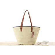 STYLE-CICI® Women Straw Tote Beige / Green / Brown-534789463225