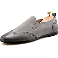 Men's Loafers & Slip-Ons Summer Round Toe PU Casual Flat Heel Others Black / Gray Others