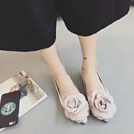 Women's Flats Spring / Summer / Fall Flats Silk Casual Flat Heel Flower Black / Pink Others