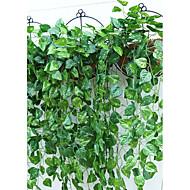1 Gren Polyester Plastikk Planter Veggblomst Kunstige blomster 95(37.4'')