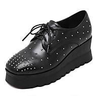 נשים-נעלי ספורט-דמוי עור-קריפרס-שחור-שטח-פלטפורמה
