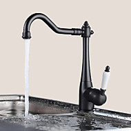 Traditional Period Single Ceramic Lever Kitchen Sink Faucet Mixer Tap Black Oil Rubbed Bronze