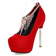 Women's Heels Shoes Spring/Summer/Fall/Winter/Platform/Basic Pump/Round Toe Wedding/Office Career/Dress