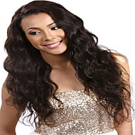Unprocessed Black Color Brazilian Virgin Human Body Wave Lace Front Wig With Baby Hair