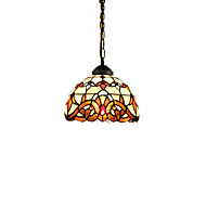 E27 220V 20CM 10-15㎡Chain Hoist 1 Meter European Pastoral Tiffany Lamp Creative Art Glass Led Small Droplight