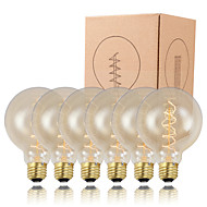 GMY 6pcs g95 edison lâmpada espiral filamento do vintage lâmpada 40w e26 / e27 decorar lâmpada