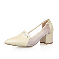 Women's Kitten Heels Soft Material Solid Pull On Pointed Closed Toe Pumps-Shoes