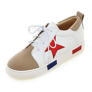 Women's Shoes Spring / Fall Wedges / Platform / Flats Flats Platform Lace-up Pink / Red / Silver/2-5