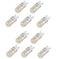 10kpl g9 58led smd3014 2w 165lm lämmin valkoinen / valkoinen / luonnonvalkoinen koristeellinen / vedenpitävä ac110v / 220v led bi-pin