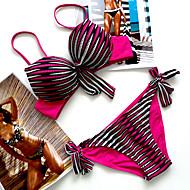 Nylon / SpandexHalter-Bikini-Kleurenblok / Push Up-Vrouwen
