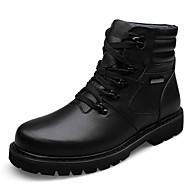 Unisex Boots Fall / Winter Comfort / Cap-Toe Cowhide Casual Flat Heel  Black Walking
