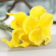 1 Ramo Couro Ecológico Lírios Flor de Mesa Flores artificiais