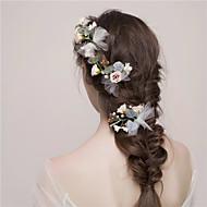 Damen Tüll Kopfschmuck-Hochzeit Blumen 3 Stück Rosa Blume 55