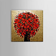 Hand-Painted Modern Thick Flower Oil Painting Wall Art living room Restaurant Decor With Frame Ready To Hang
