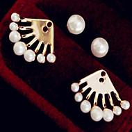 Modny Godny podziwu Stop Line Shape White Biżuteria Na Codzienny Casual 1 para