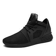 Sneakers-Tyl-Komfort-Herre-Sort Blå Rød-Udendørs Fritid Sport-Flad hæl