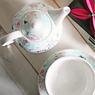 novo osso china jogo de chá amantes de café bicicleta presente do copo de anão pote de cerâmica de três peças tem solteiros