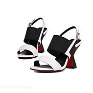 Dámské Sandály Kůže Léto Ležérní Kačenka Bílá Červená Modrá 5 - 7 cm