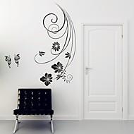 플로럴 벽 스티커 플레인 월스티커 데코레이티브 월 스티커,PVC 자료 이동가능 홈 장식 벽 데칼