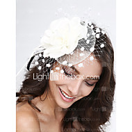 Damen Feder / Tüll / Netz Kopfschmuck-Hochzeit / Besondere Anlässe Kopfschmuck 1 StückPurpur / Schwarz / Blau / Rosa / Rot / Weiß /