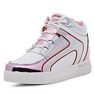 נעלי נשים-שטוחות-PU-פלטפורמה-שחור / ורוד / לבן-שמלה / קז'ואל / מסיבה וערב-פלטפורמה