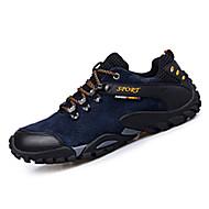Herren Sneaker Komfort Wildleder Frühling Herbst Sportlich Wandern Komfort Schnürsenkel Flacher Absatz Schwarz Grau Gelb Blau Flach