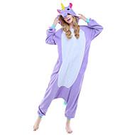 Kigurumi Pijamale Unicorn Leotard/Onesie Festival/Sărbătoare Sleepwear Pentru Animale Halloween Roz Albastru Mov Imprimeu AnimaleLână