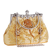 L.west Women Elegant High-grade Embroidery Beaded Evening Bag
