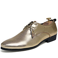 Men's Oxfords Spring/Summer/Fall/Winter Comfort Patent Leather Office & Career /Party & Evening Casual Black/Silver