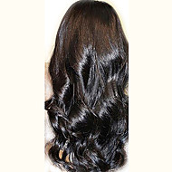 "Unprocessed 10""-24"" Peruvian Virgin Hair Natural Black Wavy 130% Density Full Lace Wig Natural Wave"