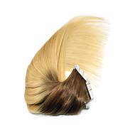 """14 """"-24"""" fita ombre em extensões de cabelo humano 4/613 ombre pu pele trama extensão do cabelo 2,5 g / pc"""
