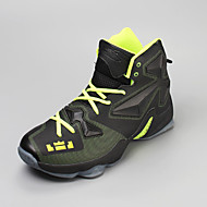 Unissex-Tênis-Conforto-Rasteiro-Azul / Amarelo / Verde / Vermelho / Prateado / Preto e Vermelho-Tule-Casual